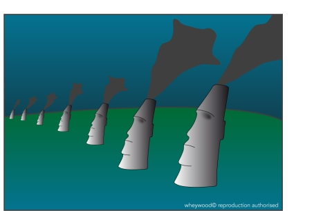 Easter Island Cartoon