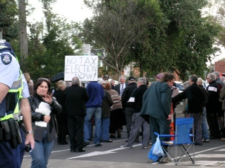 Anti-carbon tax protesters: in need of punctuation lessons