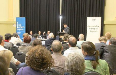 Moreland Transport Forum September 2014 had a full crowd