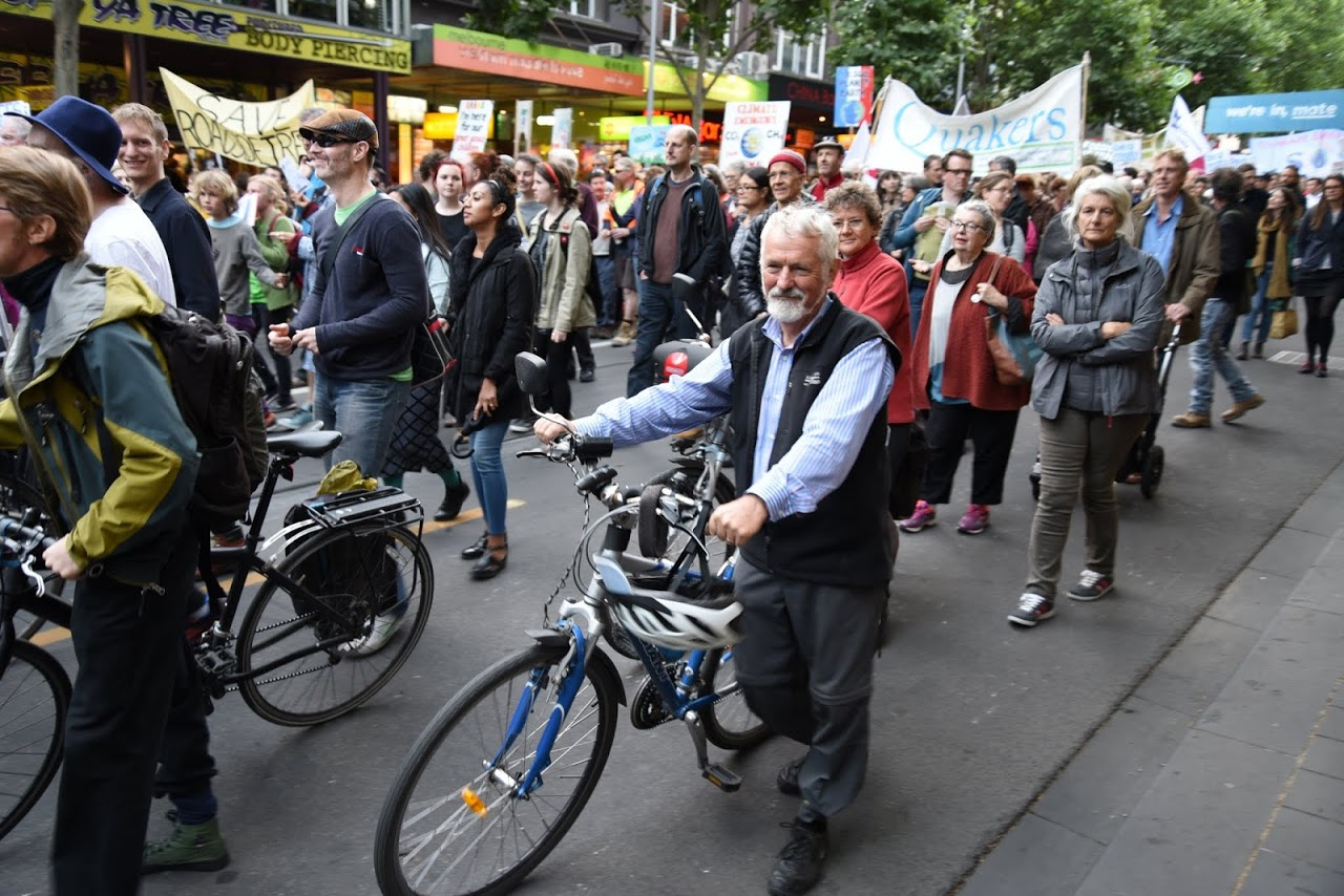 Peoples climate march 2015 cyclists