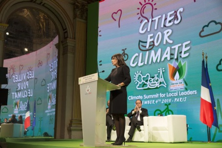 Paris Mayor Anne Hidalgo at Cities Climate Summit Photo: ©Mairie de Paris