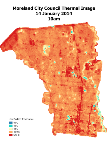 Moreland UHI Thermal imaging 14 January 2014 10am
