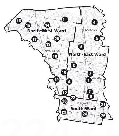 Moreland Council wards and voting centres