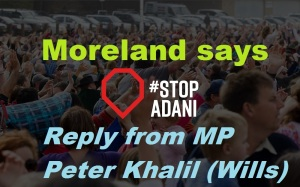 Moreland says Stop Adani 1 Reply
