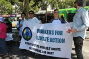 workers for climate action - Climate Crisis rally, 22 Feb, 2020