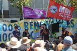 Speakers at Climate Crisis rally, 22 Feb, 2020