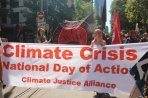 Front banner Climate Crisis rally, 22 Feb, 2020