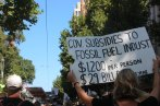 Fossil Fuel subsidies? on the march Climate Crisis rally, 22 Feb, 2020