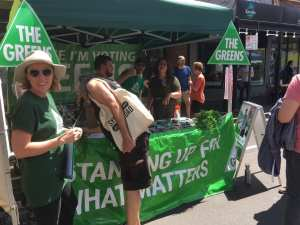 Tim Read MP stall - Sydney Road Street Party 2020